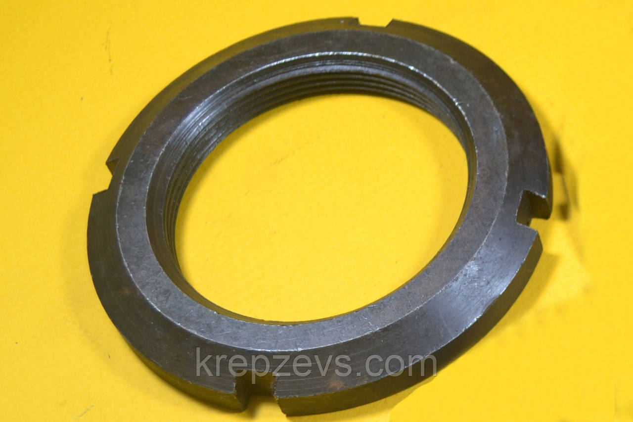 Гайка М70 кругла шлицевая ГОСТ 11871-88, DIN 981