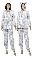 Пижама домашняя махровая с ушками 03627-1 Animal Шиншилла, р.р.40-58