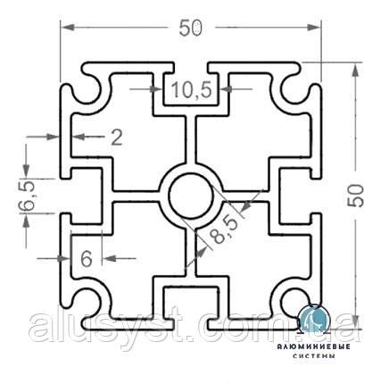 Станочный профиль ЧПУ станка| анод , 50х50