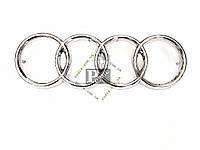Эмблема Audi 100 (l-245 мм, d кольца-80 мм, s (толщина)-10 мм + 15 мм штифт) - Значок с логотипом Ауди 100