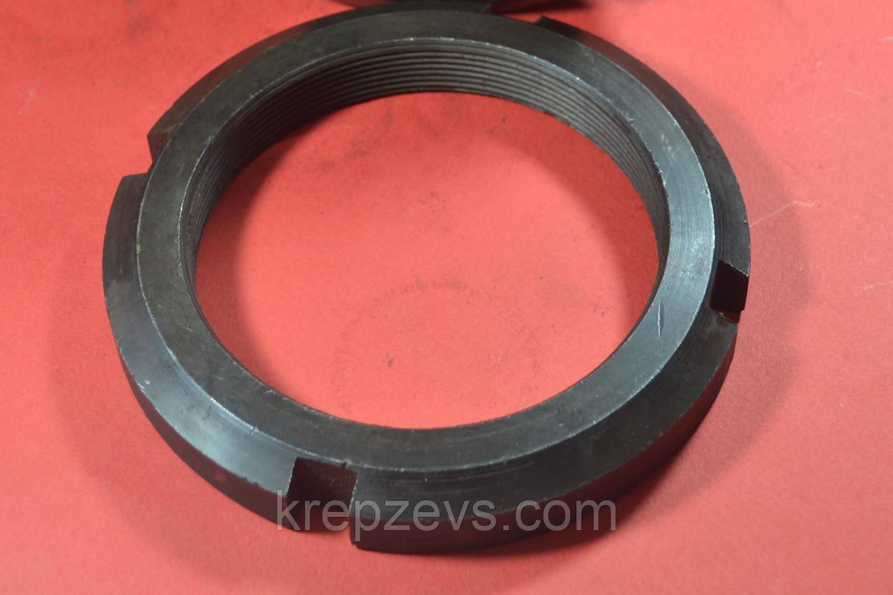 Гайка М76 кругла шлицевая ГОСТ 11871-88, DIN 981