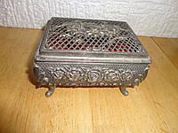 Винтажная  посеребренная шкатулка , (Франция), фото 1