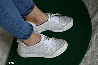 Женские белые кроссовки 175