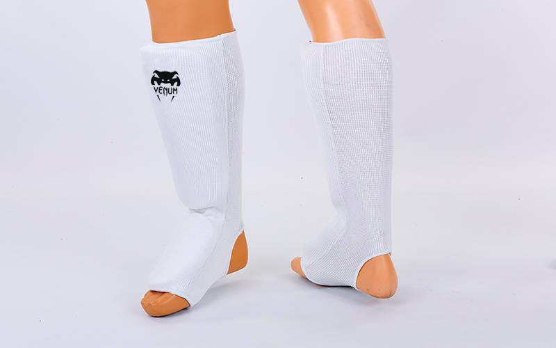 Защита голени и стопы Zelart, Daedo чулочного типа белая