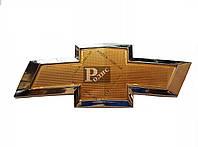 Эмблема Chevrolet Cruze MP (l-240 мм, b (ширина)-89 мм, скотч + защелки) - Значок с логотипом Шевроле Круз МП