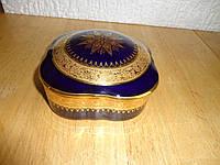 Шкатулка старинная , кобальт с позолотой, фото 1