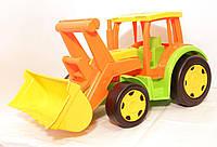 Большой игрушечный трактор Гигант с ковшом (без картона)