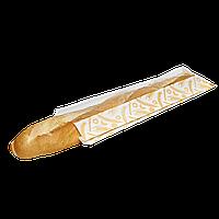 """Пакет """"Колоски"""" с окошком для багета 370*100*50/80, 100шт (395)"""