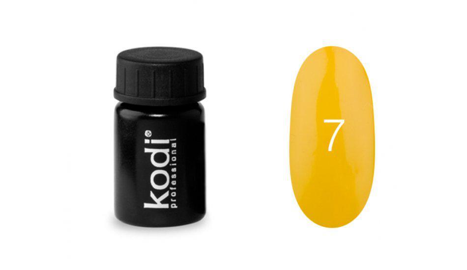 Гель-краска Kodi Professional №7 насыщенно желтый