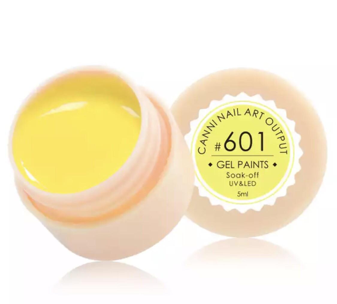 Гель-фарба CANNI 601 (теплий жовтий), 5 мл