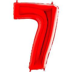 Шар Цифра 7 Красная Грабо