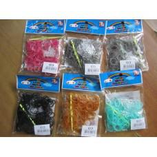 Резинки для плетения браслетов (200 шт\уп.с перламутром, по цветам)