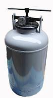 Автоклав для консервирования дома на 14 л банок или 28 поллитровых, из газового баллона, пр-во Беларусия