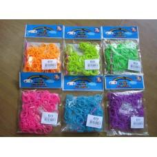 Резинки для плетения браслетов (200 шт\уп.флиоресцентные, по цветам)