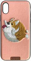 Чехол-накладка PUZOO TPU+TPU with stitchwork craft Ballon Dog iPhone X Pink