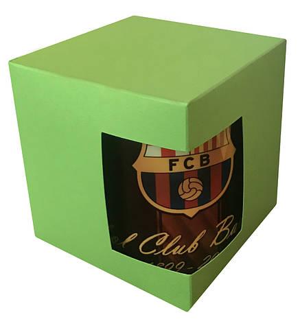 Картонная упаковка для кружек с дизайнерского картона, салатовая