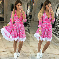 Женское нарядное платье в клеточку с пышной юбкой (2 цвета), фото 1