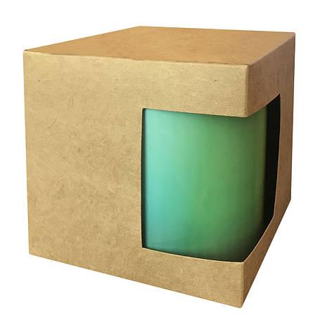 Картонная упаковка для кружек с дизайнерского картона, крафт