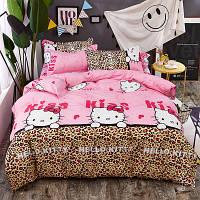 Постельное белье полуторное HomyTex с Пропиткой Алое Вера Hello Kitty