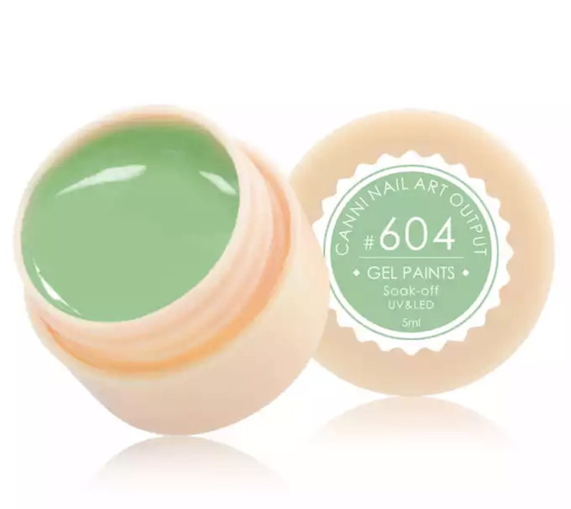 Гель-краска CANNI 604 (бледно-салатовый), 5 мл