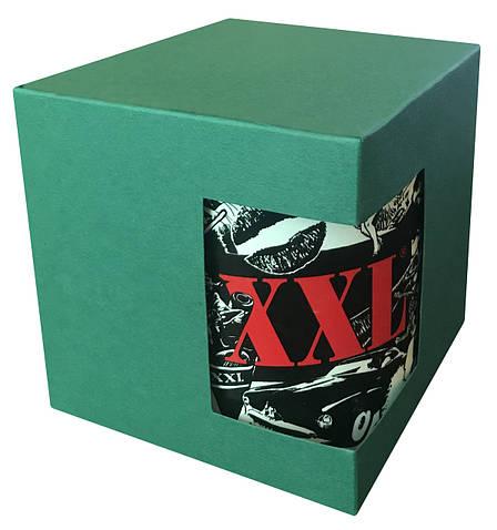 Картонная упаковка для кружек с дизайнерского картона, зеленая