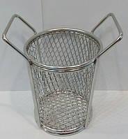 Корзинка { фритюрница} нержавеющая круглая для подачи блюд Ø 90 мм (шт)
