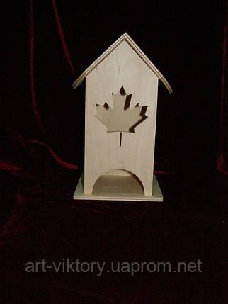 Коробка для хранения чайных пакетиков кленовый лист (10 х 10 х 23 см), фото 2