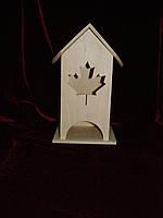 Коробка для хранения чайных пакетиков кленовый лист (10 х 10 х 23 см)