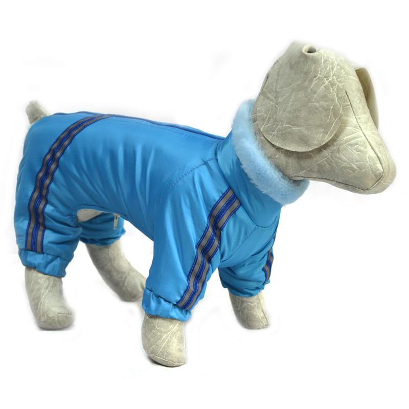 Комбинезон для собак Мех голубой
