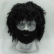 Зимняя шапка с дредами и бородой, уникальный головной убор)