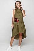 Интересное молодежное платье цвета хаки