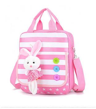 """Сумка детская ранец """"Кролик"""" розовый"""