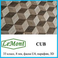 Ламинат с 3D эффектом толщиной 8 мм LeMount Nordik 33 класс, Cub