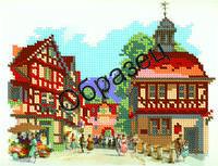 Схема для вышивки бисером «Городская улица»