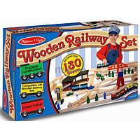 Развивающая игрушка Melissa&Doug Деревянная железная дорога (MD701)