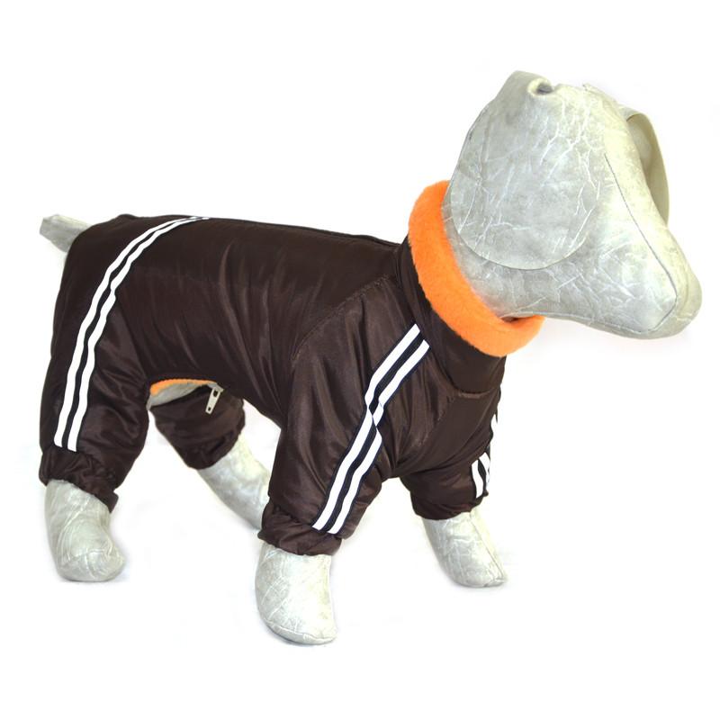 Комбинезон для собак Мех коричневый
