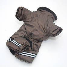 Комбинезон для собак Мех коричневый, фото 3