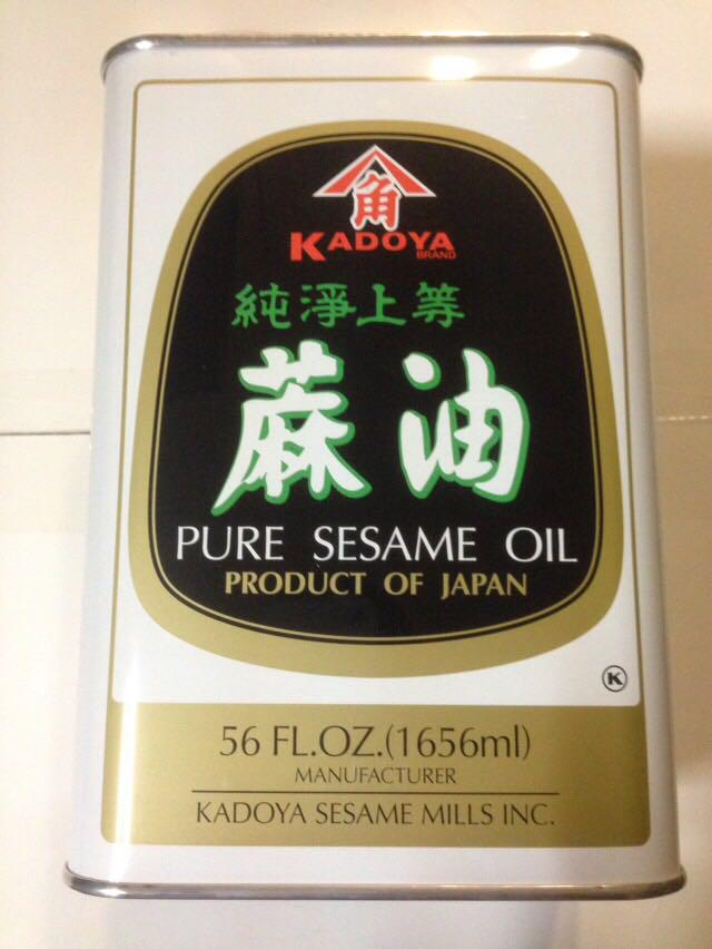 Кунжутное масло Kadoya, Pure Sesame oil, 1656 ml