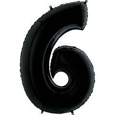 Шар Цифра 6 Черная Грабо