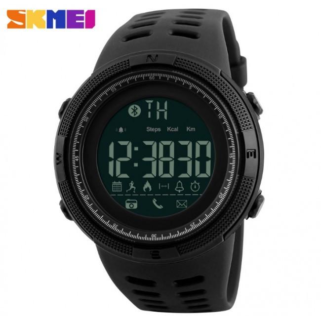 Спортивные смарт-часы Skmei Smart 1250 черные 50 m водонепроницаемый (5АТМ)