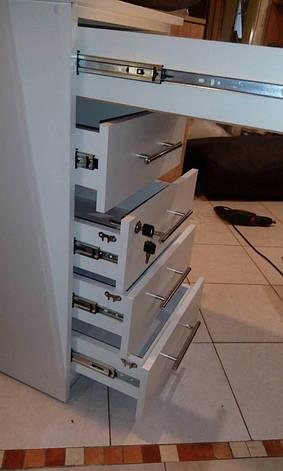 Маникюрная тумба белая с замком и ящиками., фото 2
