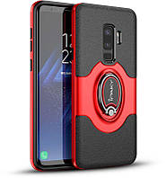 Чехол-накладка Ipaky 360° Free Rotation Ring Holder case Samsung Galaxy S9 Plus G965F Red
