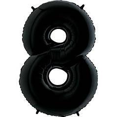 Шар Цифра 8 Черная Грабо