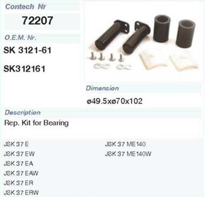 Ремкомплект седла JOST JSK37E140V SK 3121-61 р/к крепления седла (SK290594 | 72207CNT)