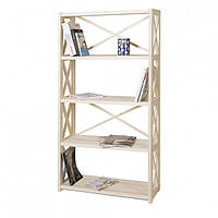 Деревянный стеллаж для дома и офиса на 5 полок серии RAN5