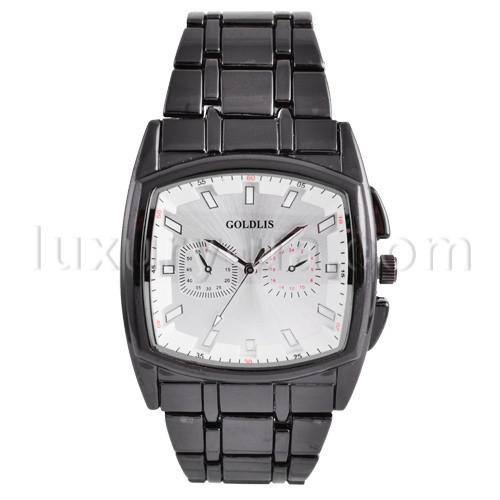 ea88893e83fd Часы наручные GOLDIS 1227 квадрат, черный, браслет, мужские цена ...