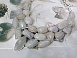 Лунный камень в серебре. Шикарное колье, ожерелье с природным лунным камнем., фото 3