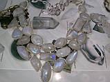 Лунный камень в серебре. Шикарное колье, ожерелье с природным лунным камнем., фото 2