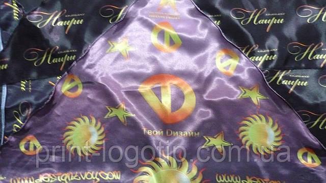Банданы ,косынки с логотипом заказать пошив с печатью
