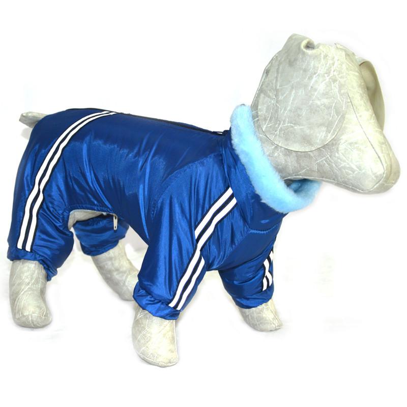 Комбинезон для собак Мех синий